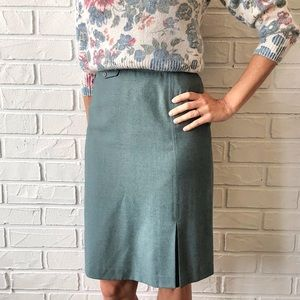Vintage high waist knee length pencil skirt